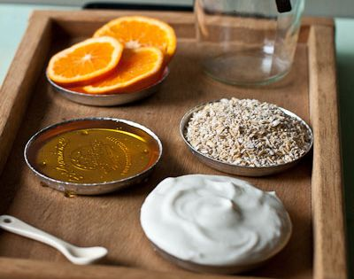 #DIY Moisturizing Orange Face Mask 1/2 cup steel-cut oatmeal (you can substitute