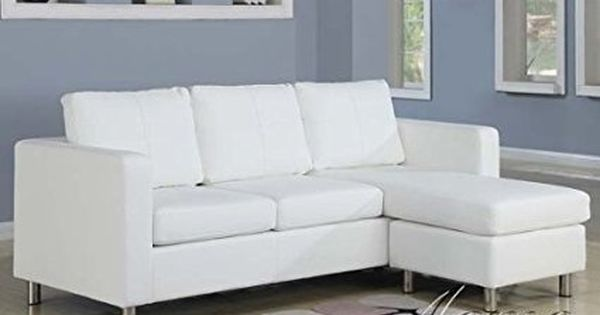 2 Pc Kemen Collection White Leather Like Vinyl Reversible