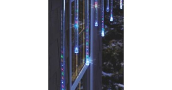 Philips 12ct. Multicolor Cascading Icicle String Lights - White Wire - Target Exclusive - WANT ...