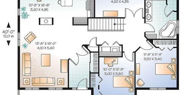 W2185 v1 plain pied 3 chambres maison conomique for Chambre champetre