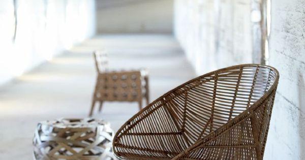 En el mobiliario mimbre y hierro sal n pinterest for Sillas hierro ikea
