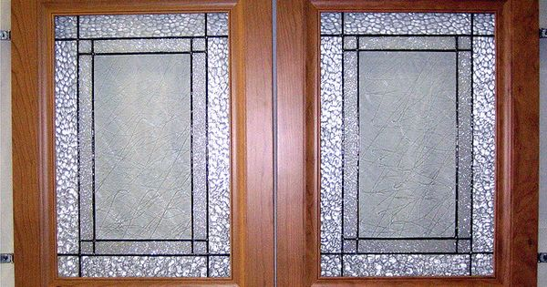 Custom Kitchen Cabinet Doors Clear Textures In Stained Glass 2 By