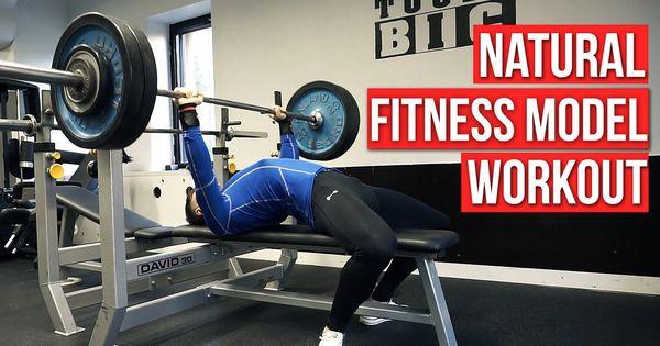 Full natural Fitness model upper body day strength workout ...