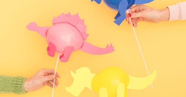 Mini Dinosaur Balloon Sticks Oh Happy Day Dinosaur