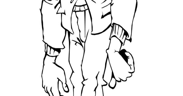 Frankenstein Zombie Coloring Page