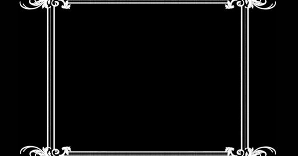 Silent Movie Title Card Border | captions | Pinterest ...