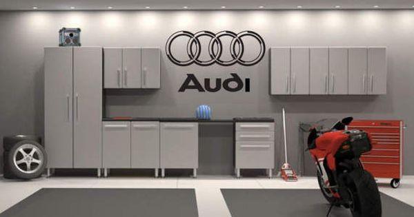 Garage streichen  Audi Aufkleber Emblem Garage innen Dekor Wand Kunst Audi Vinyl ...
