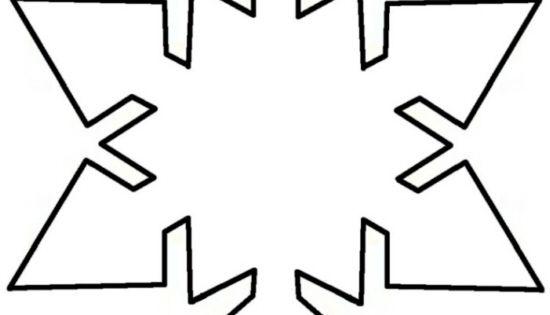schneeflocke vorlage zum ausschneiden stern vorlage pinterest schneeflocke vorlage. Black Bedroom Furniture Sets. Home Design Ideas