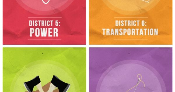 These minimalist posters describe the Hunger Games districts - what should be the picture for District 13?