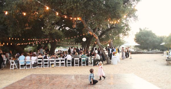 Cheap linoleum wood flooring for an outdoor wedding dance ...