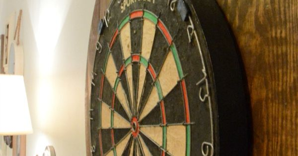 Diy dartboard project games pinterest darts for Diy dartboard lighting