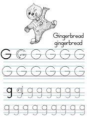 Amazing Printables By Jan Brett Preschool Letters Tracing Worksheets Preschool Letter G Worksheets