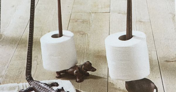 Adorable animal toilet paper holders from grandinroad Animal toilet paper holder