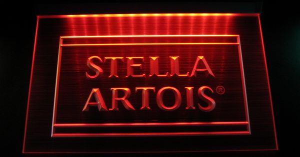Hw3202 Stella Artois Beer Vintage Bar Neon Hairline Light