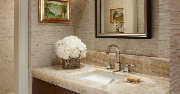 Crea espacios elegantes tambi n en tu ba o pared m rmol - Marmol travertino para banos ...