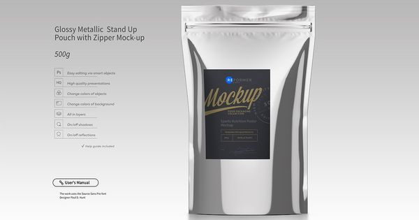 Download Stand Up Pouch Mockup Set 40 Off Stand Up Pouch Packaging Pouch