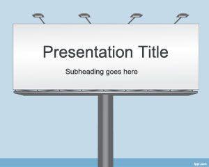 Wood Billboard Powerpoint Template Dengan Gambar