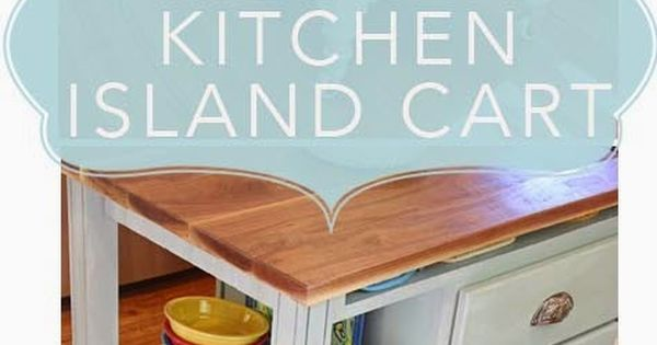 DIY Kitchen Island Cart; How to and plans for building a kitchen