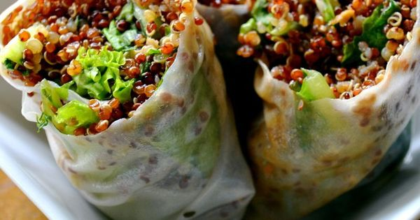 Sesame Quinoa Spring Rolls, from Top 10 Healthy Food Recipes Healthy foods