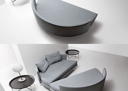 sectional sofa bed - might be more comfortable than the traditional sofabed?
