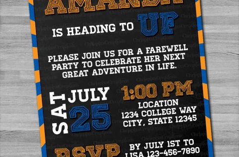 Going Away to College Party Invitation - Chrispix's ...