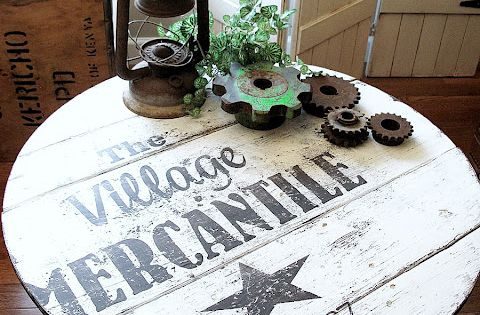 a table topped sign with a story - via Funky Junk Interiors