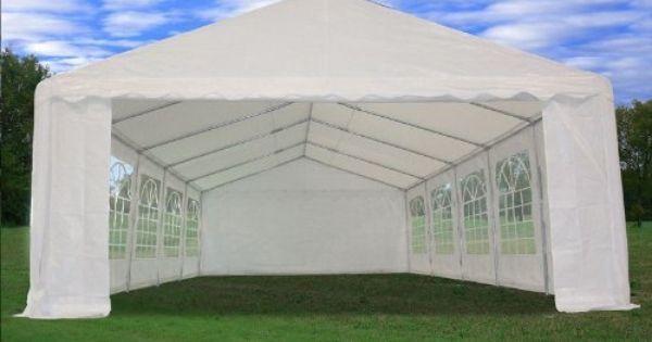 32 X16 Heavy Duty Wedding Party Tent Canopy Carport White By Wpic Store Http Www Amazon Com Dp B003dq0i5u Ref Cm Canopy Outdoor Canopy Tent Backyard Canopy