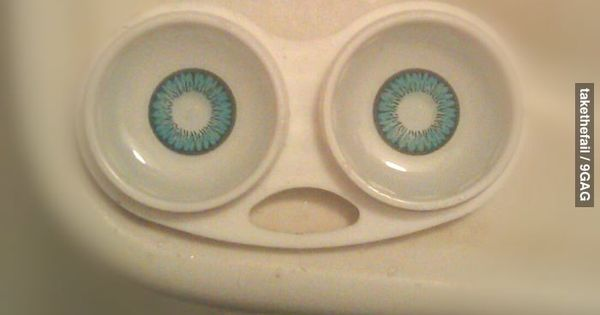 I've seen things... terrible things...contact lense humor