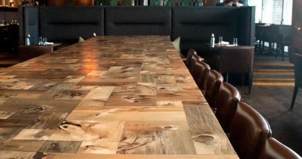 Mosaic Communal Table, custom commission for e11even restaurant Toronto restaurant