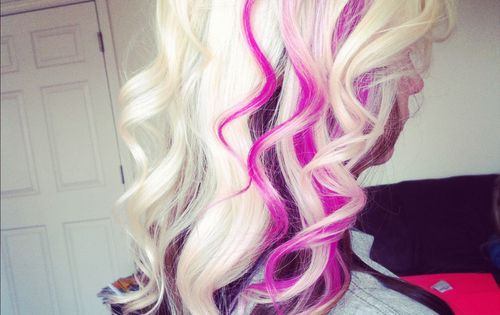 Pink Black And Blonde Hair Platinum Hair With Pink