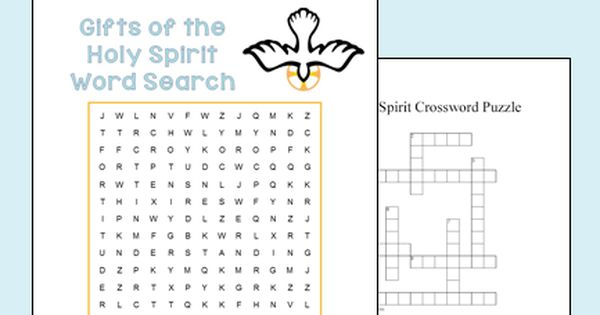 seven gifts of the holy spirit worksheet set free printables religious education word. Black Bedroom Furniture Sets. Home Design Ideas