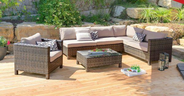 gartenmöbel im set mit bank, tisch und auflagen - für entpannung, Garten Ideen