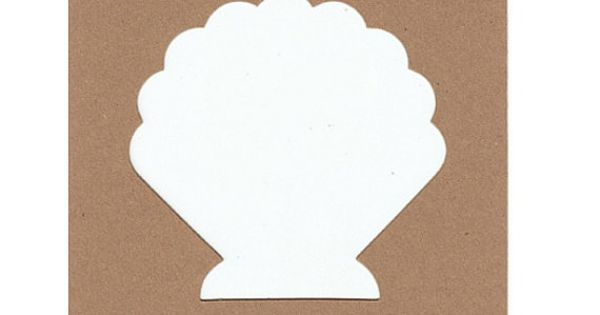 christmas photo booth prop ideas - Ridged Scallop Shell Stencils 4 by ScrapnCraftzCapeCod on