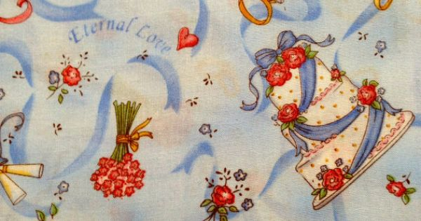 Wedding Themed Cotton Fabric By The Yard By