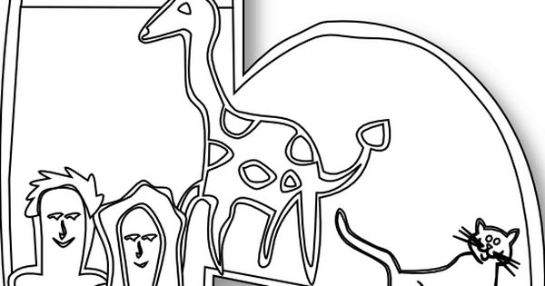 Creation Day 6 Number Ge 1 Black White Line Art Scalable