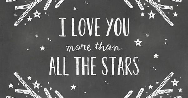 i love you more than all the stars {vinyl decal}.