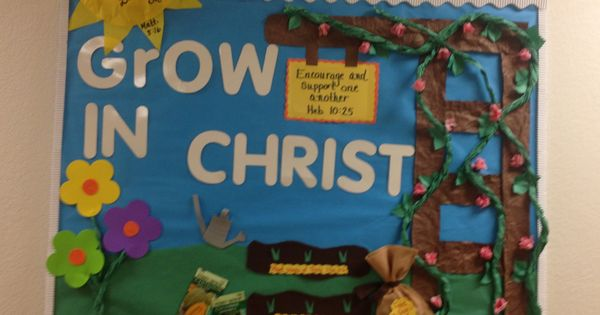 Made by estela so pretty religious bulletin boards for Pretty bulletin board