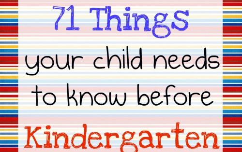 Kaykyn: pre k prep. 71 Things Your Child Needs to Know Before