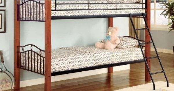 Twin Wood And Metal Bunk Bed Convertible Furniturendecor Com Twin Bunk Beds Metal Bunk Beds Futon Bunk Bed