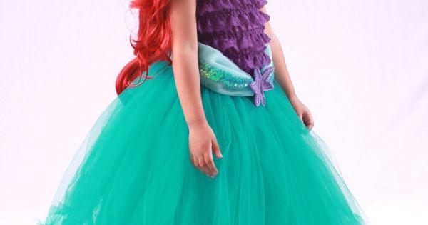 Ariel Tutu Dress Finally a mermaid costume without the seashell bra,