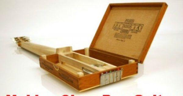 how to make a cigar box guitar stepbystep public figures pinterest cigar box guitar. Black Bedroom Furniture Sets. Home Design Ideas