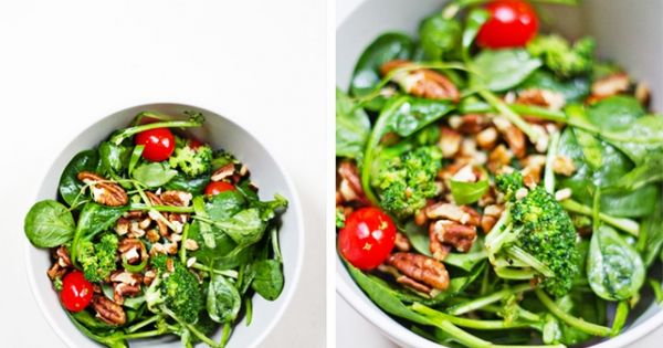 warm spinach and broccoli salad | sugar and spice ...