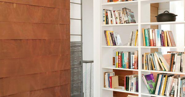 comment organiser et ranger une biblioth que cuivre paroi de cuivre et maison. Black Bedroom Furniture Sets. Home Design Ideas