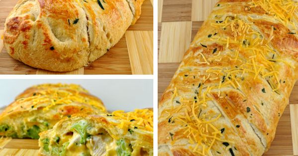 Broccoli Cheddar Chicken Braid. I make the one from Pampered Chef. It's