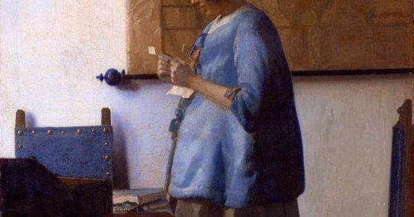 Vermeer donna che legge una lettera arte seicentesca e settecentesca pinterest - Geloof peinture ...