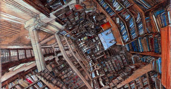 SAMPLE ARTIST: Rorik Smith The Disorienting Polyhedral Panoramic Perspective Drawings de Rorik