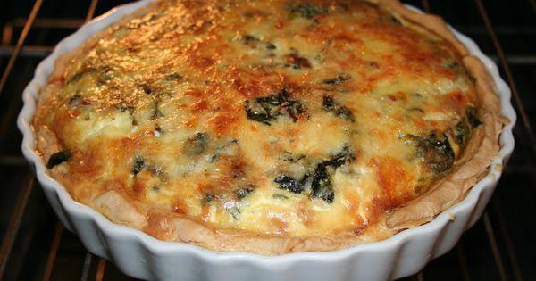 Swiss Breakfast Chard, Pancetta and Mushroom Quiche ...