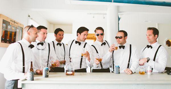 classic black bow ties   suspenders for the gents! | Kaytee Lauren #wedding