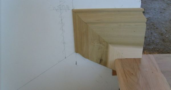 Determining Skirt Board Height Stair Makeover Stairs Skirting Wood Fireplace