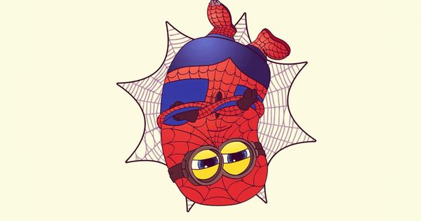 2014 Halloween Spider Man Minion Apple Iphone 6 Plus